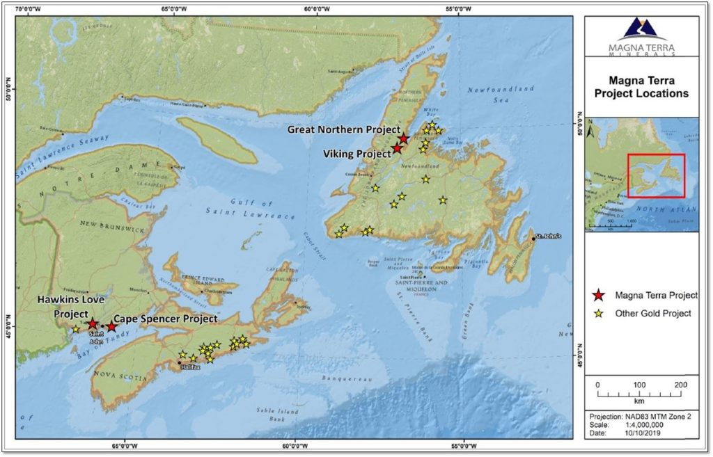 Magna Terra – Atlantic Canada - Project Locations